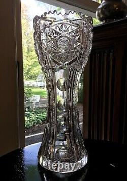 Pairpoint Cut Glass Henrietta American Brilliant 9 Vase c. 1905
