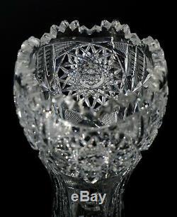 Pairpoint Henrietta American Brilliant Period Cut Glass Corset Vase ABP ABCG
