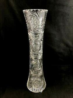 Quaker City ABP Brilliant Cut Glass No. 29 CHALLENGE Pattern 14 Vase