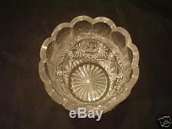 Rare American Brilliant Period Cut Glass Spooner / Celery Vase