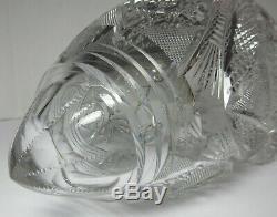 Rare HANGING CUT GLASS VASE American Brilliant ABP Antique