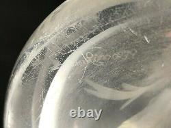 STUNNING Sterling Cut Glass Co. ABP Intaglio Lily Pattern 14 Vase Signed