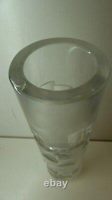 Scandinavian MID Century Art Glass Cut Crystal Vase