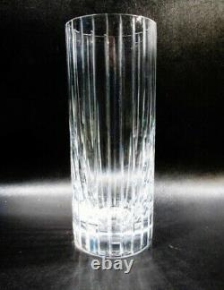 Signed Baccarat France Harmonie French Cut Crystal Art Glass Vase HED