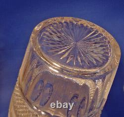 Sinclaire Museum Quality Cut Glass Vase 12 Signed with Logo