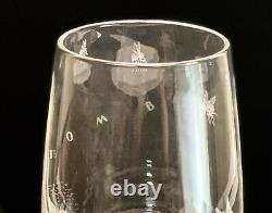 Steuben Etched Cut Glass Bombus Bee Vase by Bruce Moore 1953, Signed