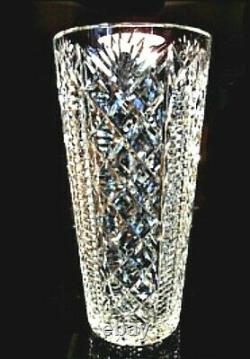 Stunning WATERFORD CRYSTAL Ireland 12/30.5cm LARGE CLARE Hand Cut FLOWER VASE