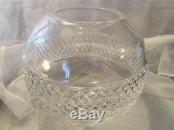 Tiffany & Co. Crystal Diamond Cut Rose Bowl Vase 7