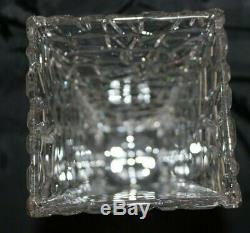 Tiffany & Co. Sierra Square Rock Cut Vase-9.5 Tall-Excellent Condition