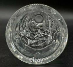 Tiffany & Co Vase Rock Cut Crystal lce 8 Cylinder Bud Signed New with Label