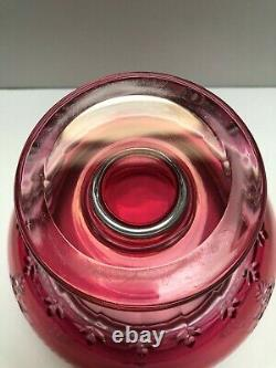 Val St Lambert Magnificent Crystal Bowl Red Cut To Clear