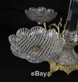 Very Elegant Gilt Bronze And Cut Glass Epergne
