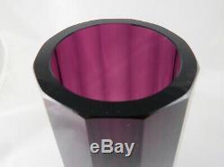 Very Fine Josef Hoffmann Vienner Werkstatte Purple Cut Glass Vase, Circa 1915