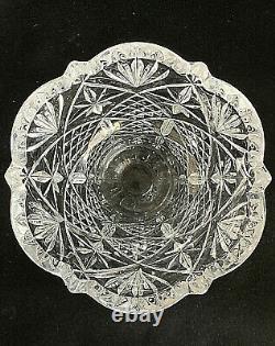 Vintage 8 Cut Lead Crystal Vase Beautiful Excellent Condition