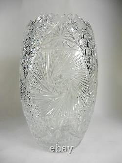 Vintage Cut Crystal Vase