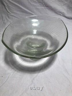 Vintage RARE 1950s MCM TAPIO WIRKKALA IITTALA 3523 Line Cut Art Vase signed