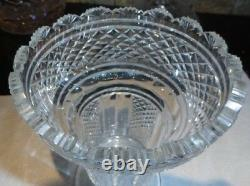 Vintage WATERFORD CRYSTAL Pedestal Vase 8 1/2 Master Cut