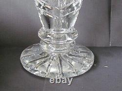 WATERFORD CUT CRYSTAL PAIR OF LARGE TRUMPET SHAPED VASES (Ref5786)