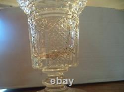 Waterford Crystal Vintage Hibernia Fan Cut Footed Vase MASTER CUT RARE HTF