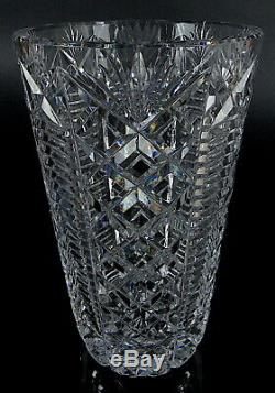 Waterford Ireland Clare Cut Crystal Glass 10 Flower Vase